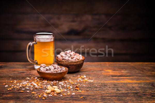 Birra arachidi spazio testo vita Foto d'archivio © grafvision