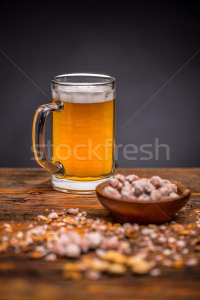 Pinda's bier gezouten voedsel alcohol Stockfoto © grafvision