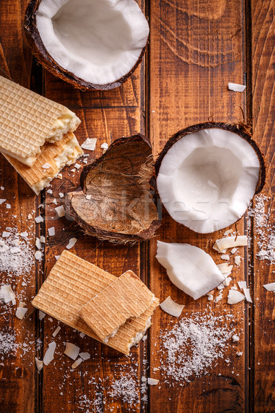 White chocolate wafers  Stock photo © grafvision