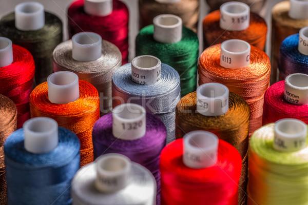 Seda fio colorido fundo tecido cor Foto stock © grafvision
