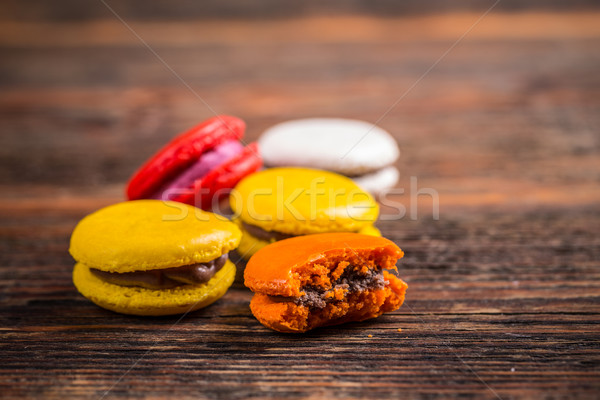 популярный французский десерта macarons Vintage Сток-фото © grafvision