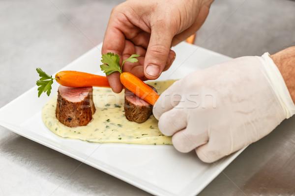 Zdjęcia stock: Kucharz · restauracji · kuchnia · gotowania · naczyń