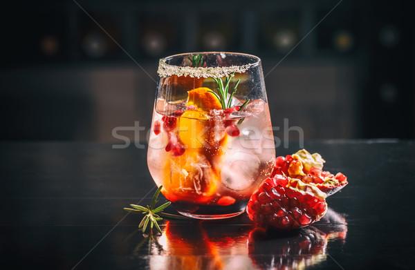 Cam nar portakal suyu taze meyve turuncu Stok fotoğraf © grafvision