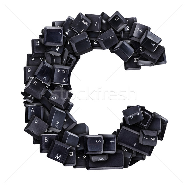 Letter C made of keyboard buttons Stock photo © grafvision