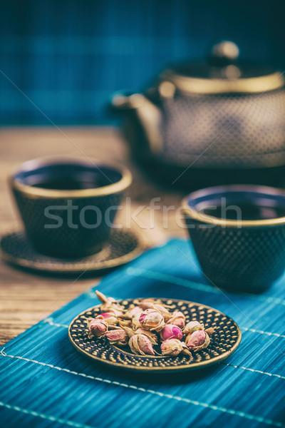 Dry rose tea buds Stock photo © grafvision