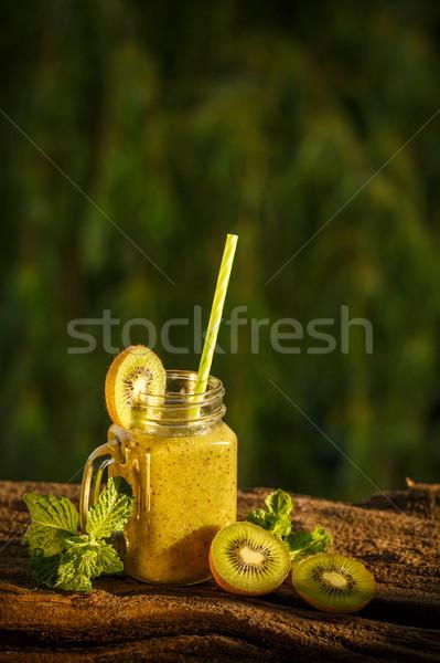 Healthy fresh kiwi smoothie Stock photo © grafvision
