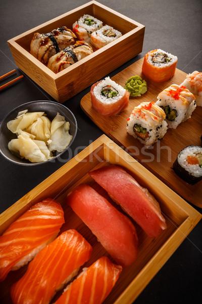 Японский вкусный суши набор служивший имбирь Сток-фото © grafvision