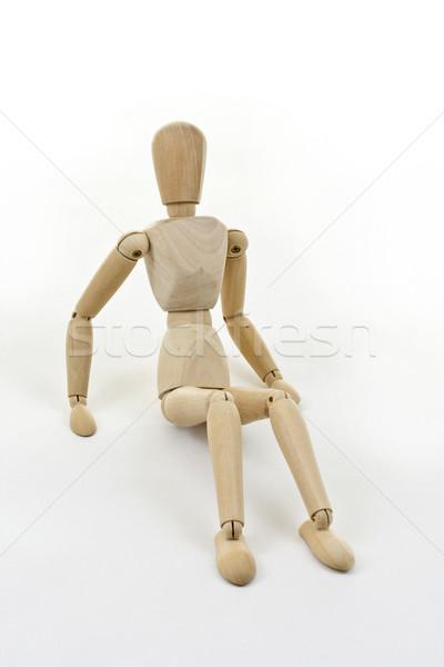Sitting figurine Stock photo © grafvision