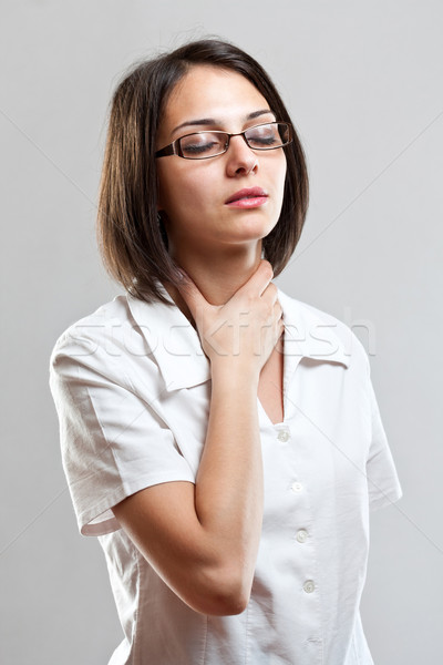 Sore throat young woman Stock photo © grafvision