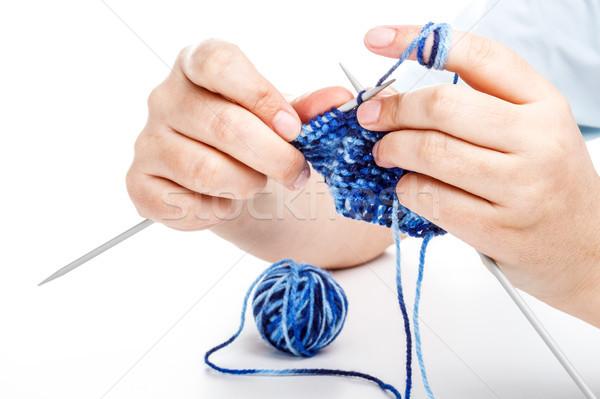 Knitting hands  Stock photo © grafvision