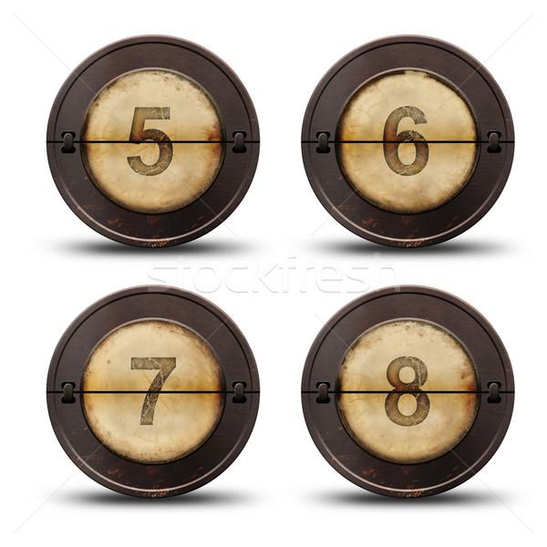 Macchina da scrivere numeri vintage reversibile metal web Foto d'archivio © grafvision