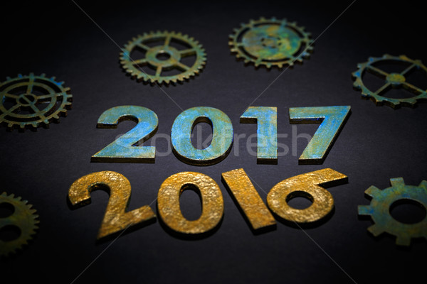 Symbol from number 2017 Stock photo © grafvision