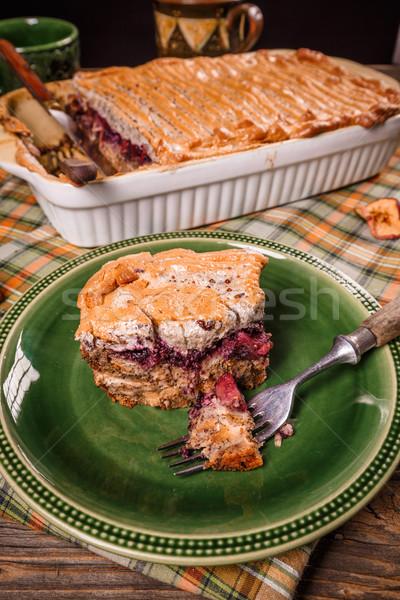 Inglês pão pudim maçã prato Foto stock © grafvision