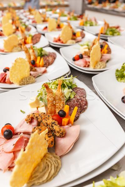 Antipasti piatto catering tavola set servizio Foto d'archivio © grafvision