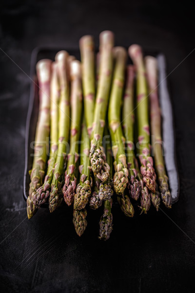 Fresh green uncooked asparagus Stock photo © grafvision