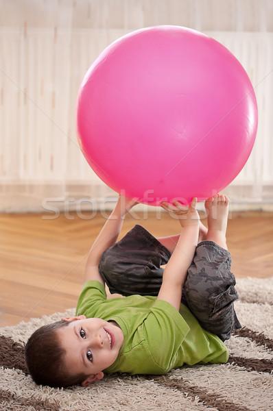 少年 ボール 再生 ルーム 笑顔 ストックフォト © grafvision