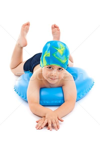 少年 演奏 青 生活 リング 面白い ストックフォト © grafvision
