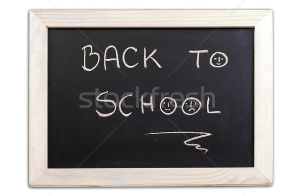 黒板 小 学校 孤立した 白 ストックフォト © grafvision