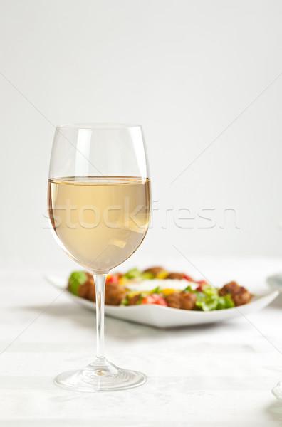 White wine in glass Stock photo © grafvision