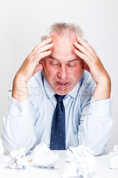 Biznesmen zmęczony biuro działalności tabeli wykonawczej Zdjęcia stock © grafvision