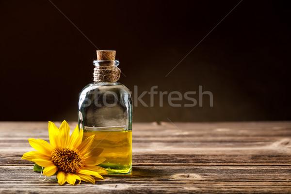 ひまわり油 ボトル 素朴な 表 ガラス ヒマワリ ストックフォト © grafvision