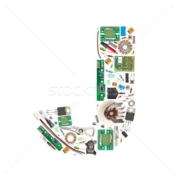 電子 コンポーネント 手紙 孤立した 白 コンピュータ ストックフォト © grafvision