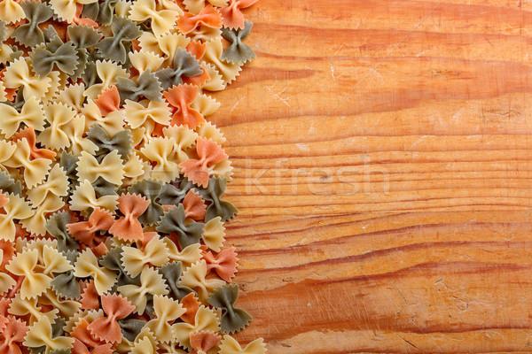 Uncooked farfalle pasta Stock photo © grafvision