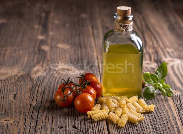 Italian uncooked fusilli Stock photo © grafvision