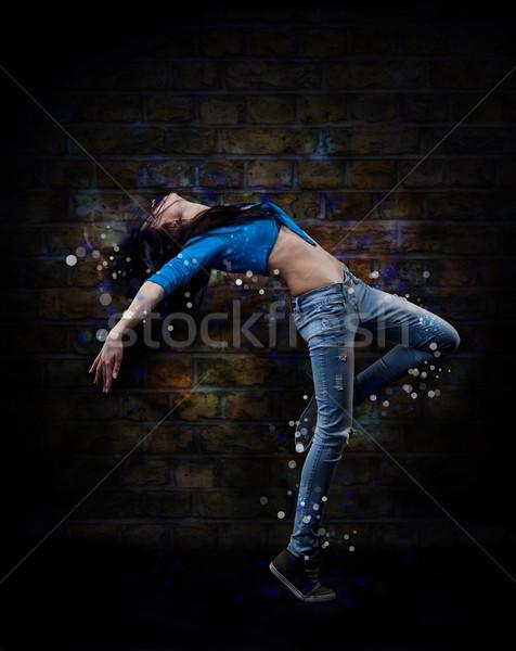 хип-хоп танцовщицы Гранж стены текстуры Сток-фото © grafvision