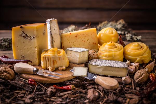 Handicraft cheeses Stock photo © grafvision