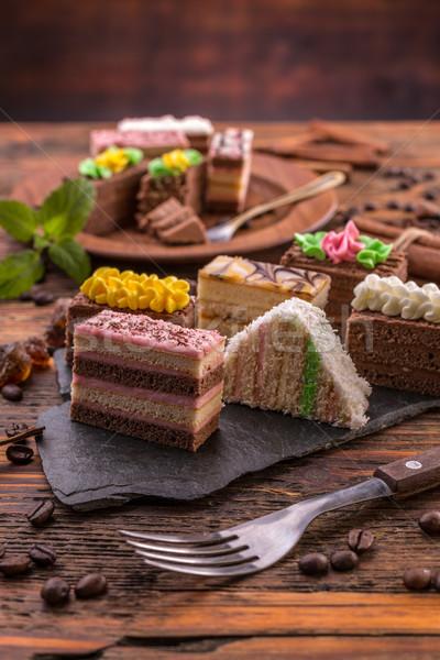 Layered pastries Stock photo © grafvision