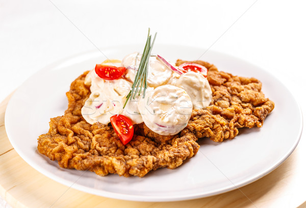 Delicious wiener schnitzel Stock photo © grafvision