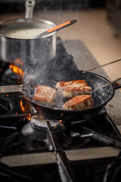 Pork meat steak Stock photo © grafvision