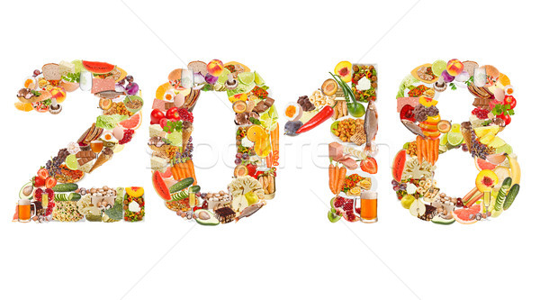2018 made of food Stock photo © grafvision