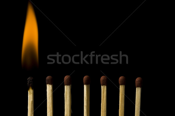 Burning match  Stock photo © grafvision