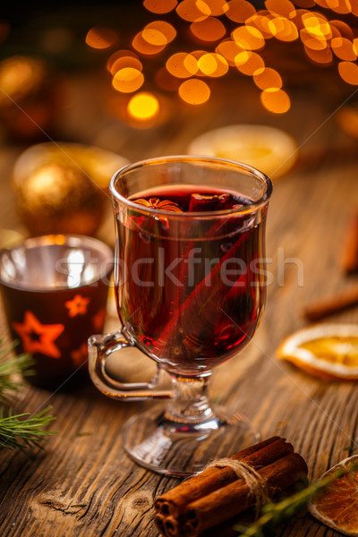 Christmas hot mulled wine Stock photo © grafvision