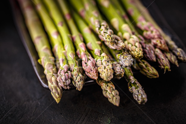 Fresche asparagi nero salute Foto d'archivio © grafvision