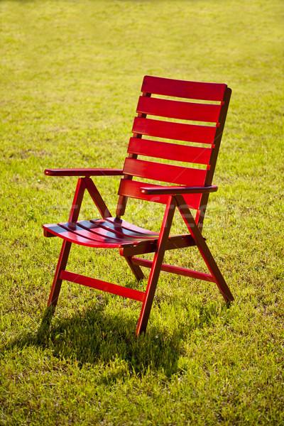 Garden chair on grass  Stock photo © grafvision