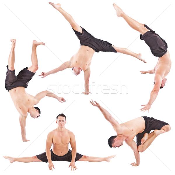 Сток-фото: спортивный · спортсмен · человека · акробатика · осуществлять