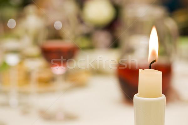 candle romantic concept Stock photo © grafvision