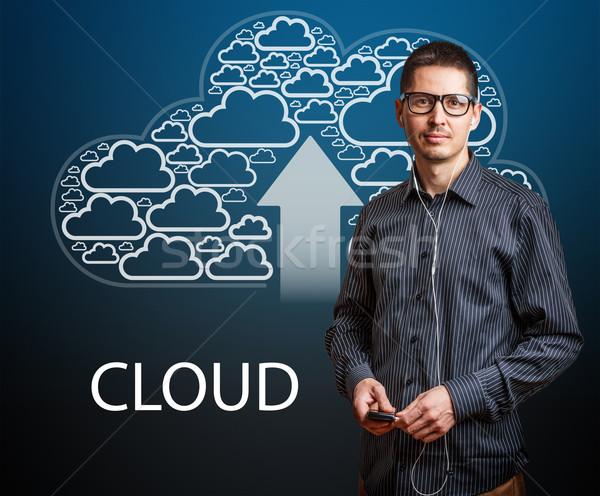 Cloudy service Stock photo © grafvision