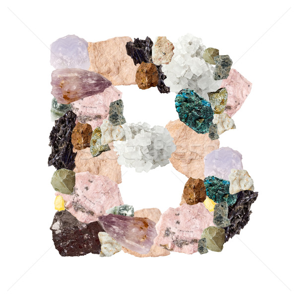 Minerals alphabet Stock photo © grafvision