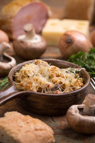 Pan cebolla setas alimentos queso comida Foto stock © grafvision