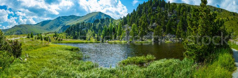 高山 風景 湖 空 草 自然 ストックフォト © grafvision