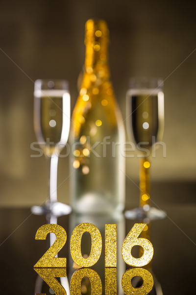 2016 year golden figures Stock photo © grafvision