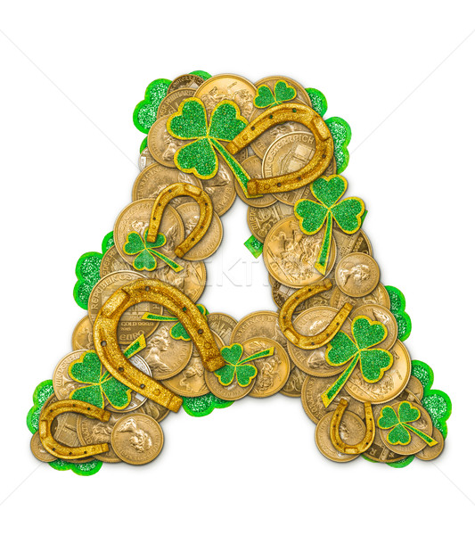 St. Patricks Day holiday letter Stock photo © grafvision