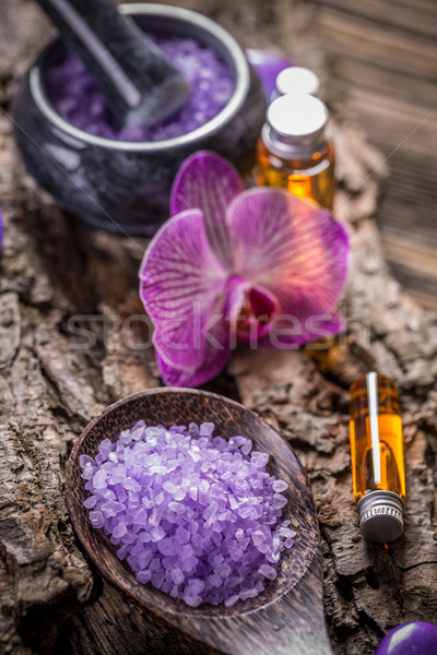 Essential oil and salt Stock photo © grafvision