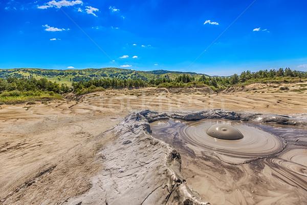 Barro volcán cráter textura Splash burbuja Foto stock © grafvision