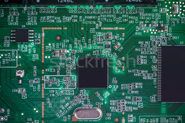 Stock photo: Electronic circuit board