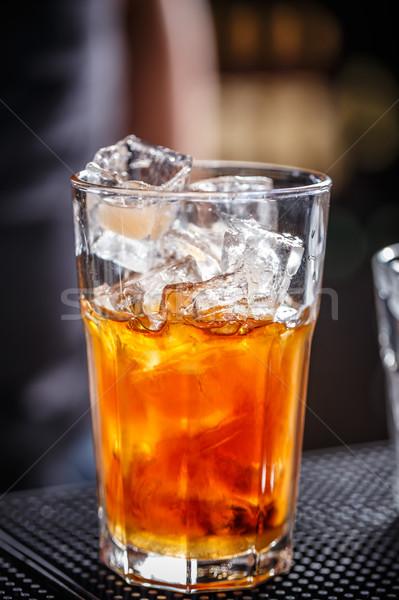 Sok pomarańczowy wódki świeże koktajl owoców szkła Zdjęcia stock © grafvision